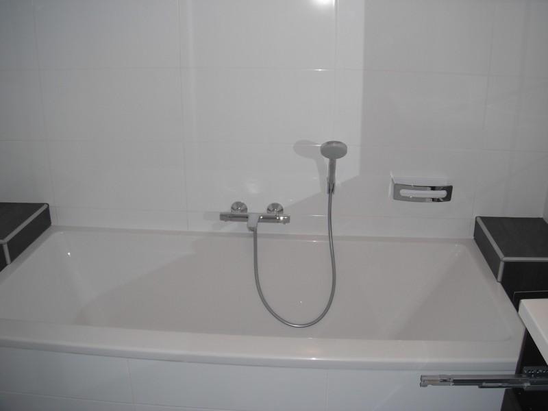 Een heerlijk bad, extra groot en extra breed.